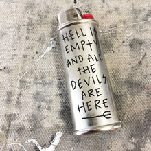 Load image into Gallery viewer, Hell is Empty Hand-Engraved Lighter Sleeve