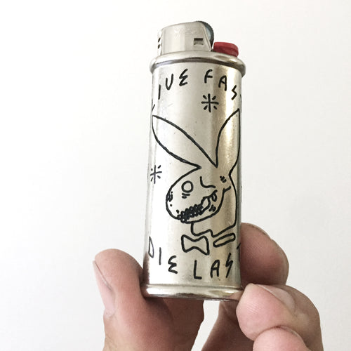 Live Fast Die Last Hand-Engraved Lighter Sleeve