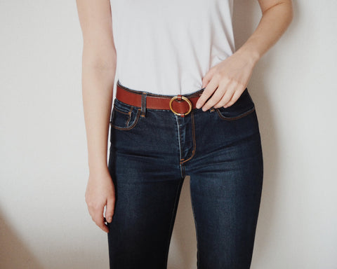 Blake Goods Circle Belt in Caramel