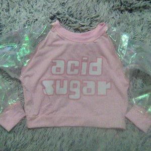 """Acid Sugar""  Translucent sleeved sweatshirt"