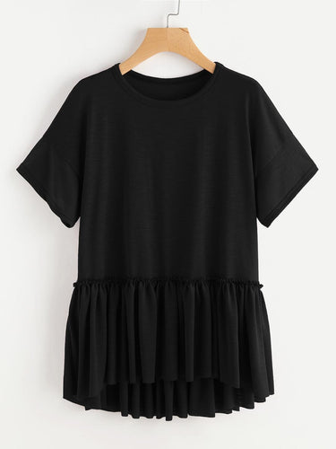 Casual ruffle t-shirt