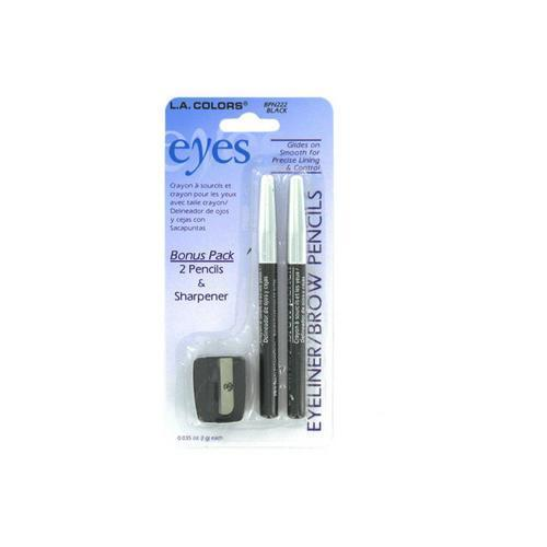 Set of two eyeliner/brow pencils and sharpener ( Case of 96 )