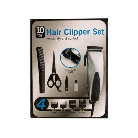 Hair Clipper Set with Precision Steel Blades ( Case of 4 )