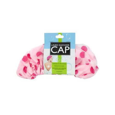 Microfiber Lined Shower Cap ( Case of 8 )