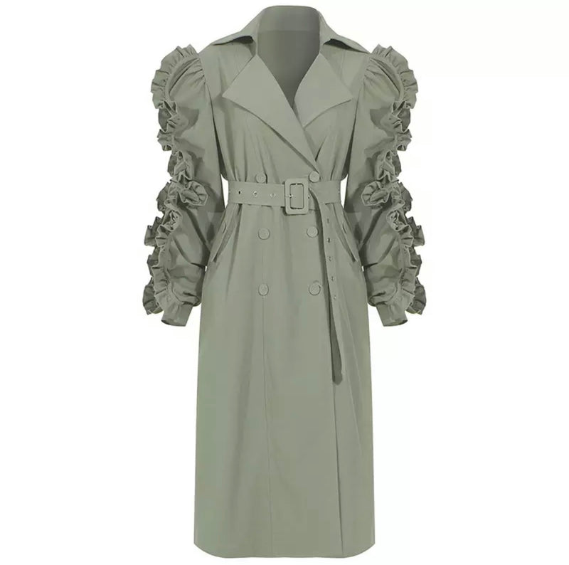 Full Bloom Trench Coat