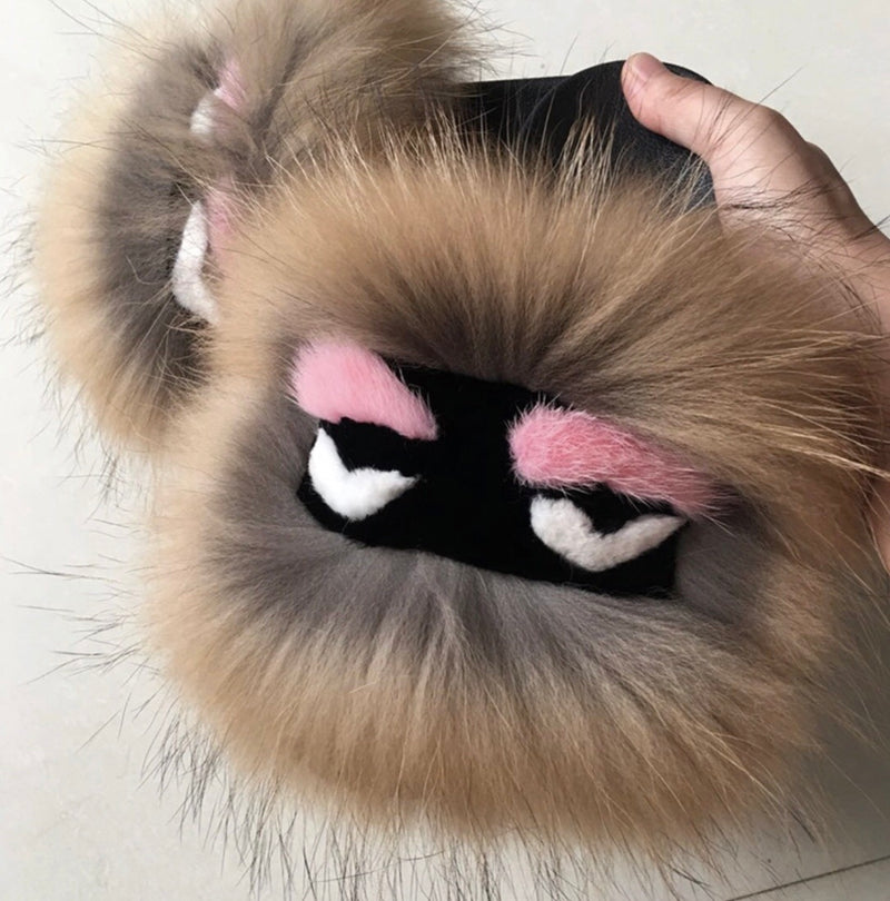 Tan Monster Pom