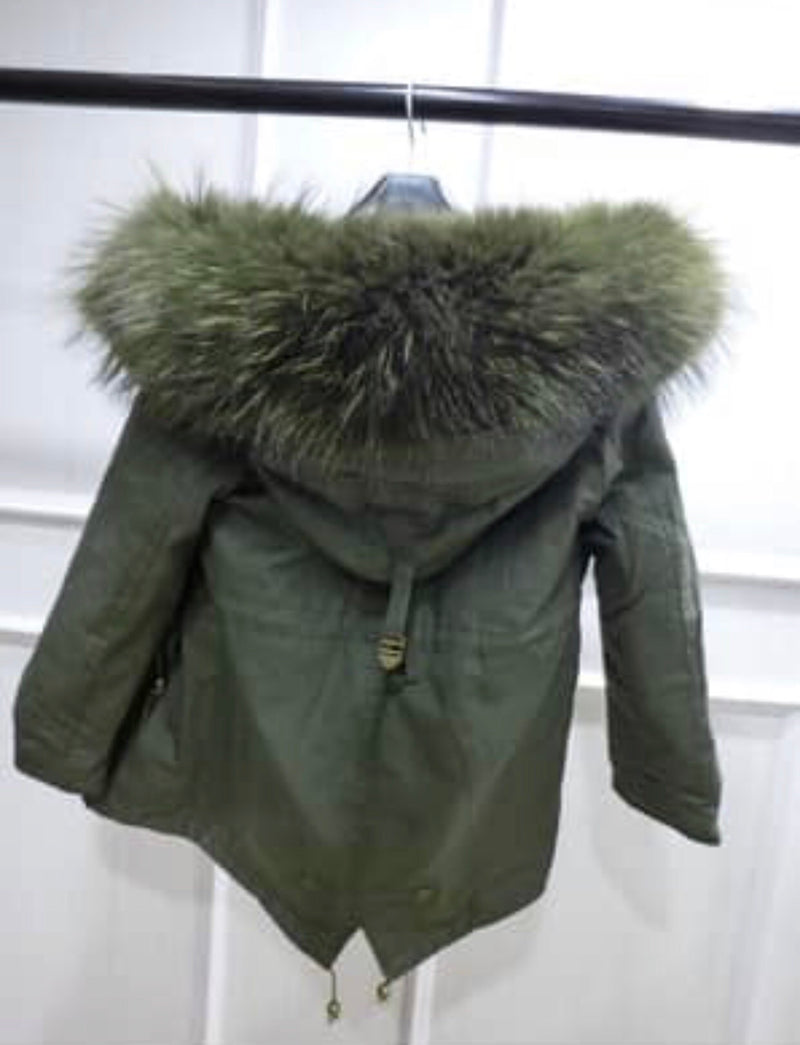 Girls Fur Parka (Attach measurements in notes)