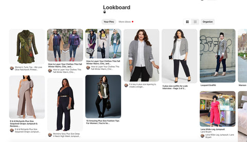 Pinterest lookboard