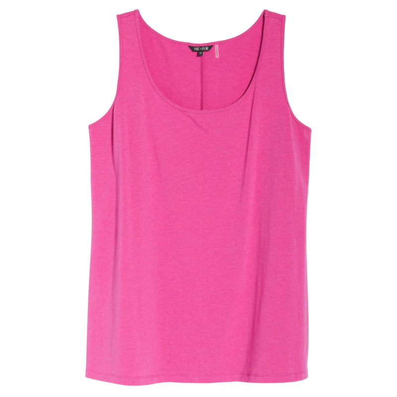 Bright pink tank top by NIC+ZOE Plus Size