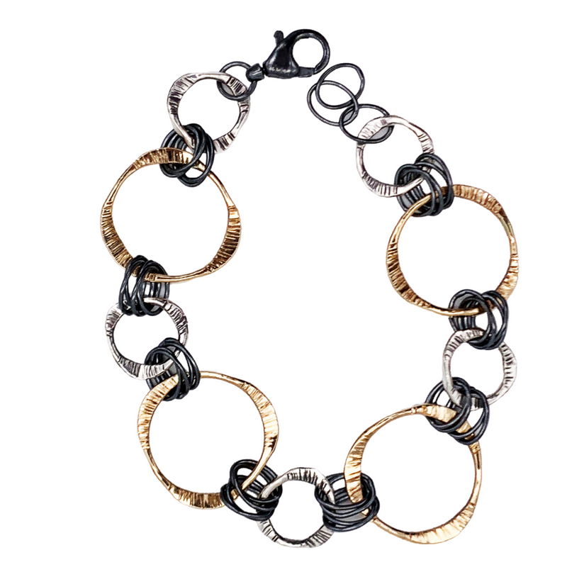 Harmony Mixed Metal Bracelet by Dana Reed Designs