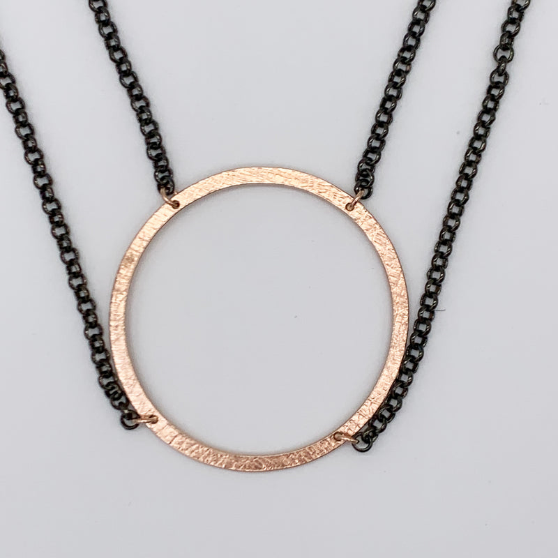 Rolo Hoop Necklace by Dana Reed Designs