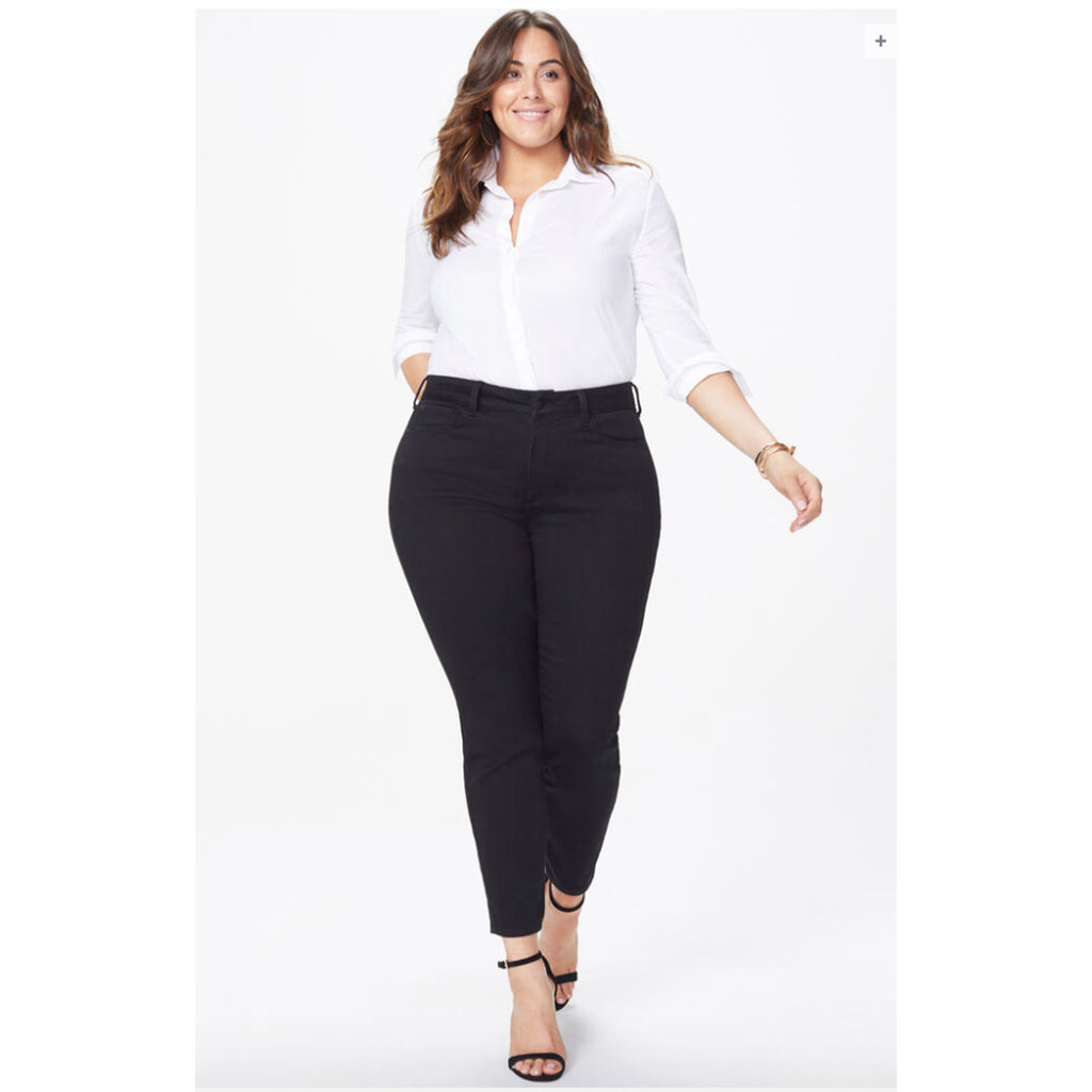Black plus size skinny jeans