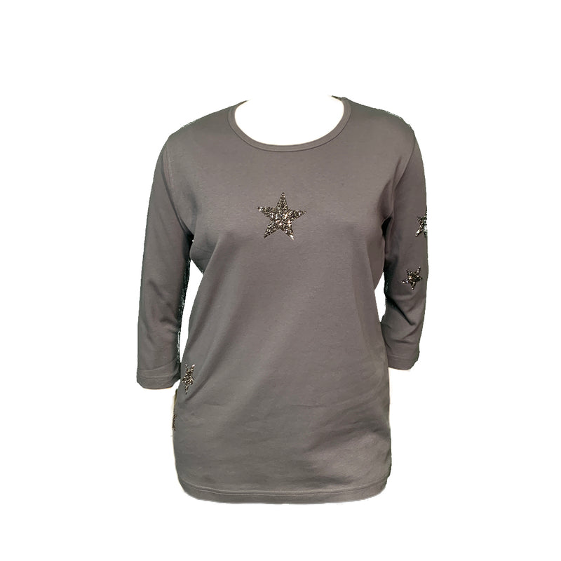 Grey top with stars