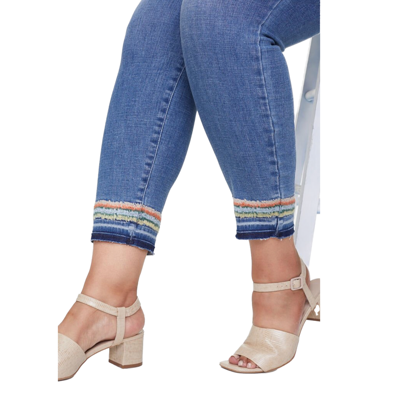 Ami Ankle Embroidered Jeans - Misses - Size Down