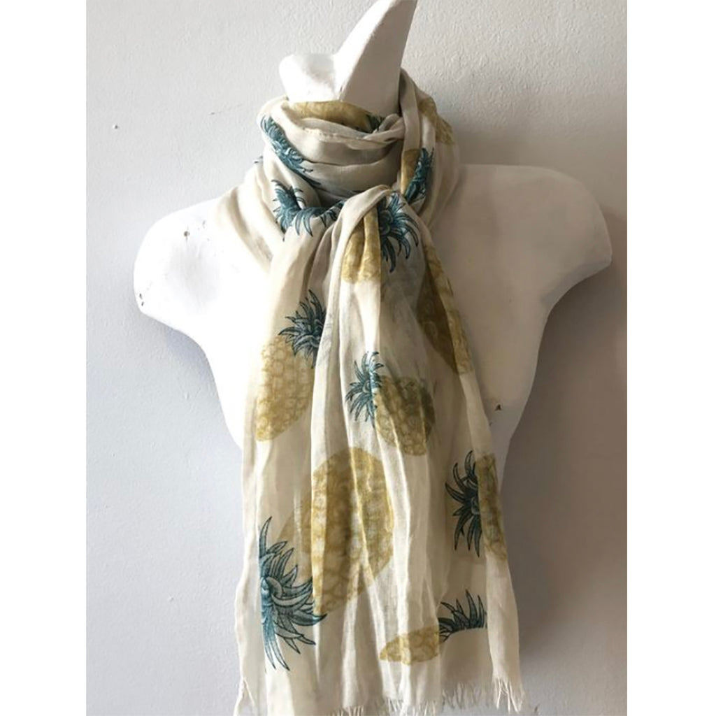 100% Cotton Pineapple Scarf