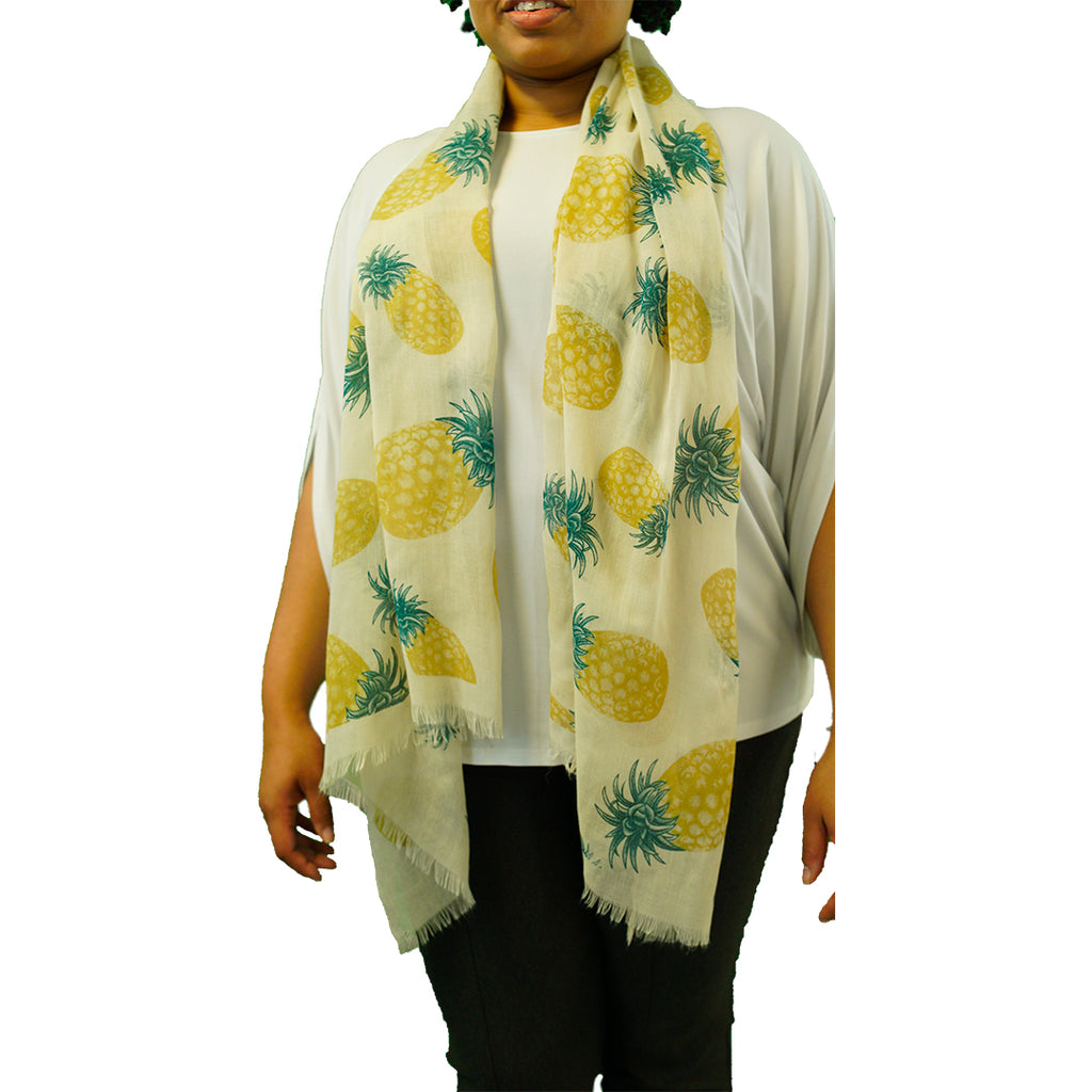 Scarf - Pineapple - 100% Cotton