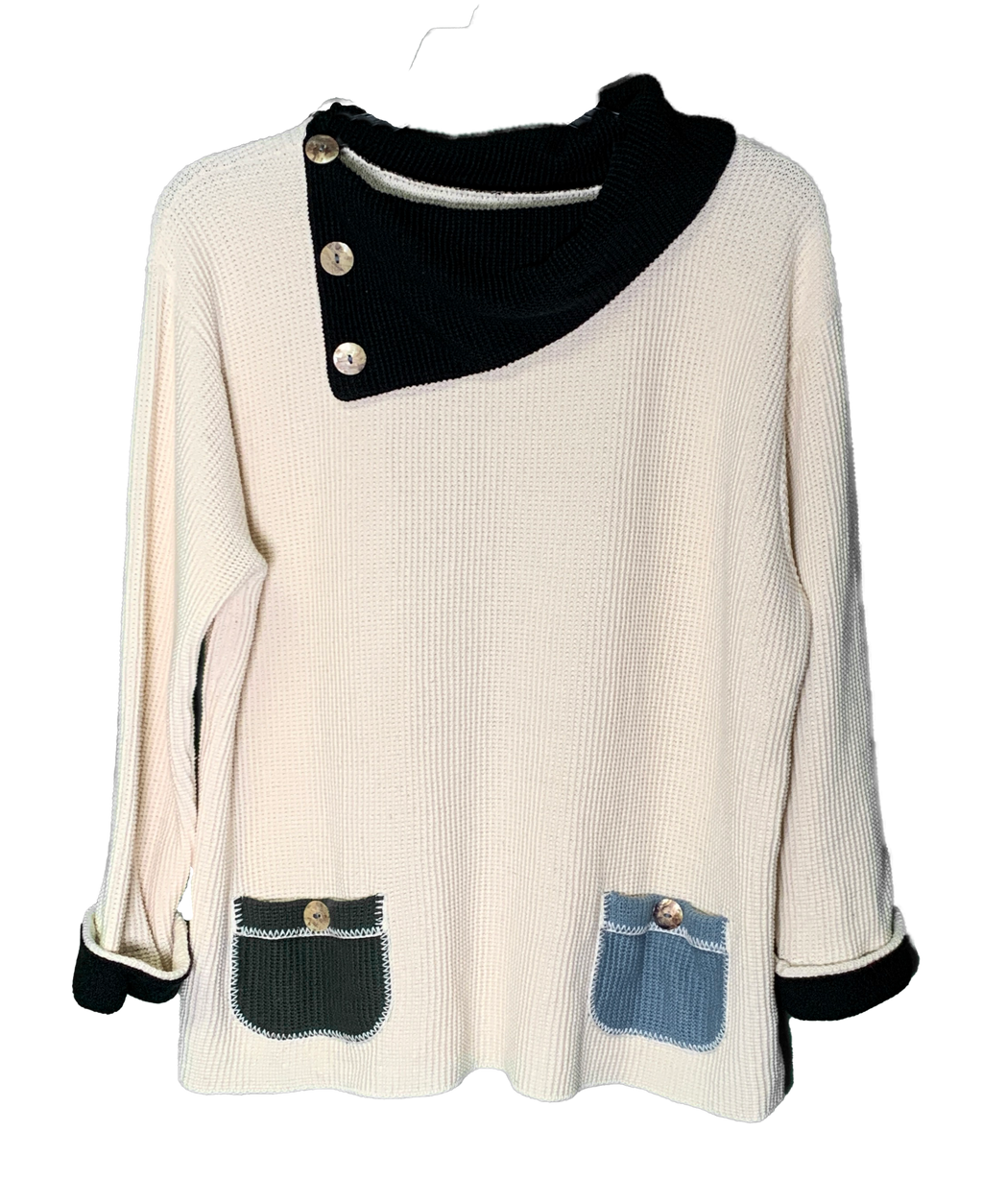cream cowl sweater