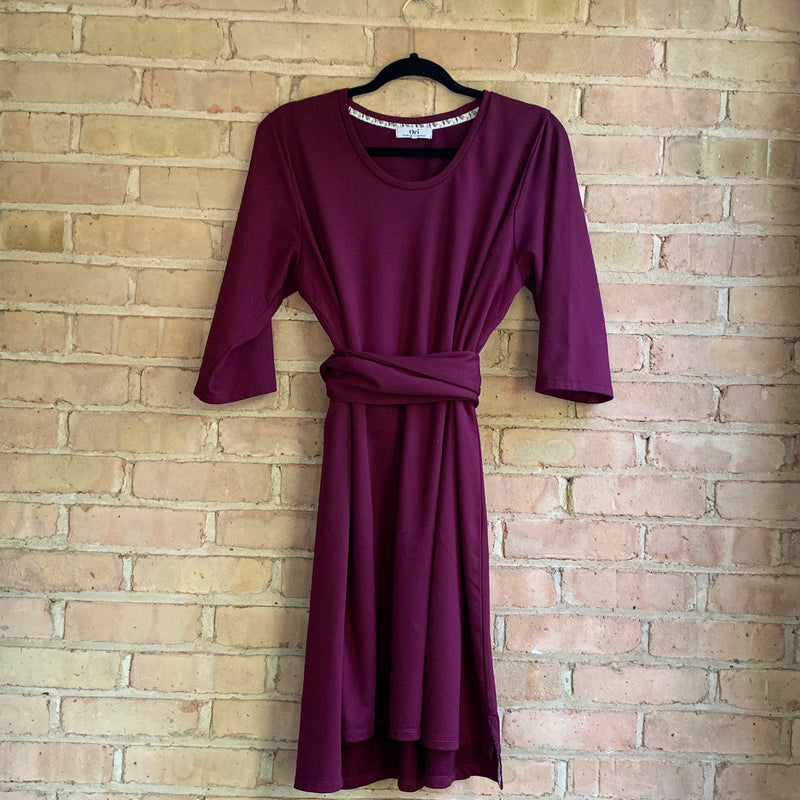 Maroon plus size dress