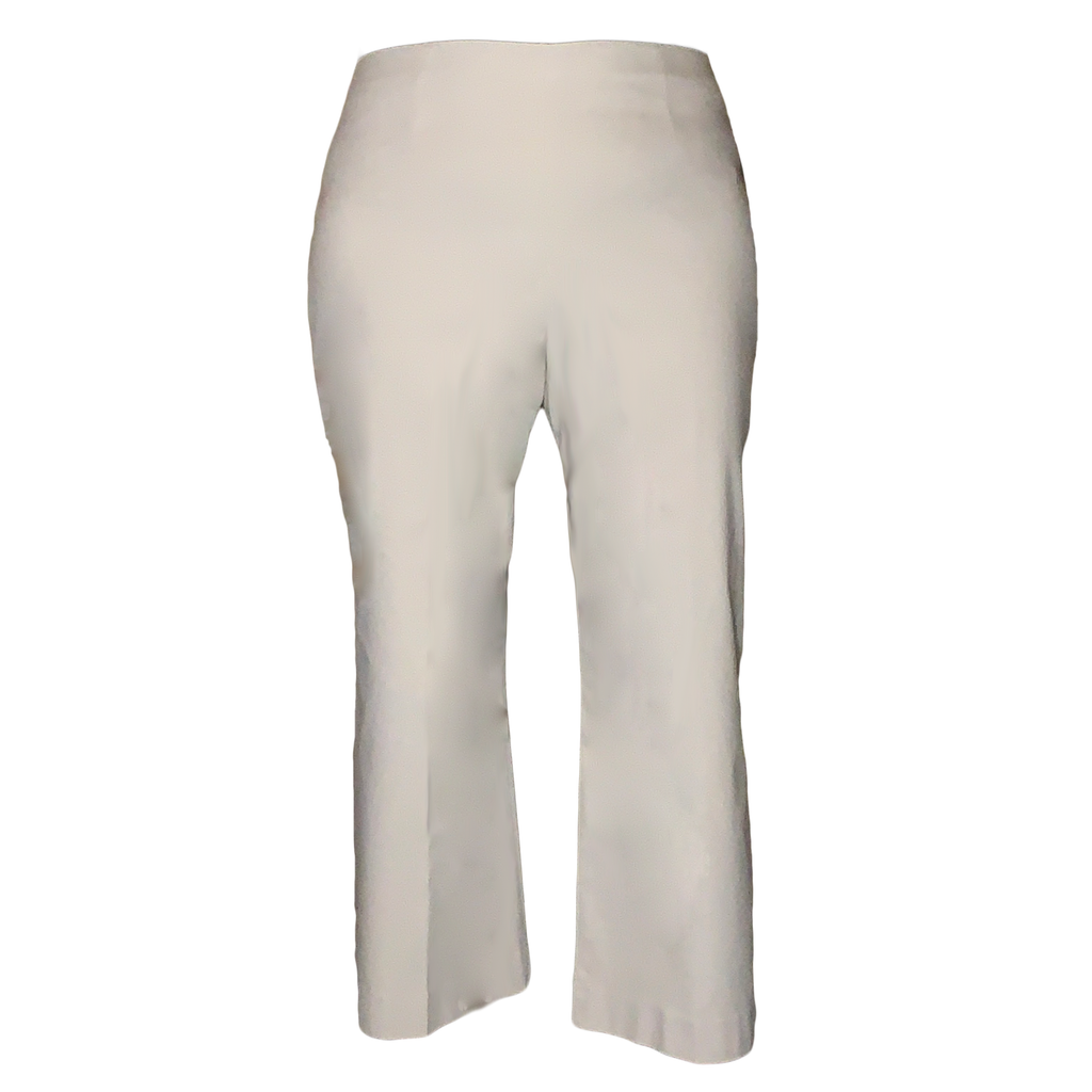 Everyday Crop Polished Wonderstretch Pant by NIC+ZOE in Cream - Plus Size