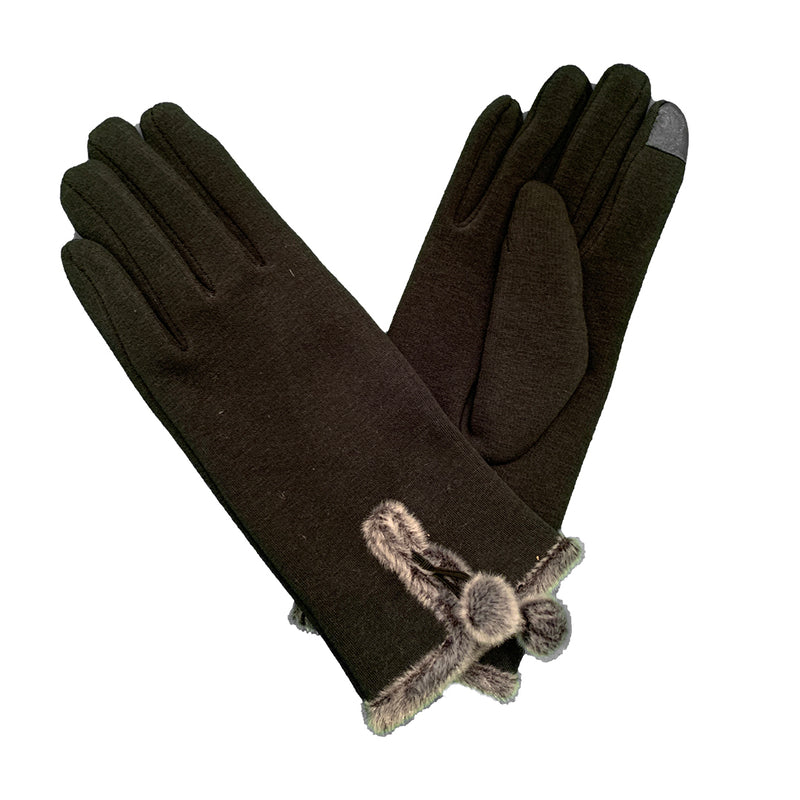 black and grey gloves