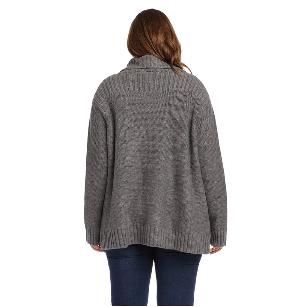 Thick grey cardigan