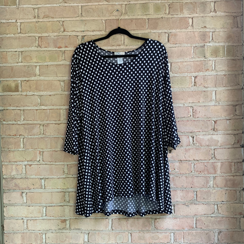 Pockets and Polka Dots Top