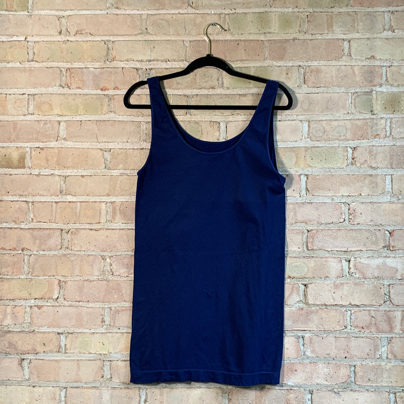 Plus size tank tops Navy