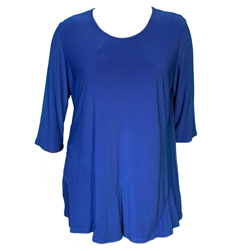 Royal blue tunic top