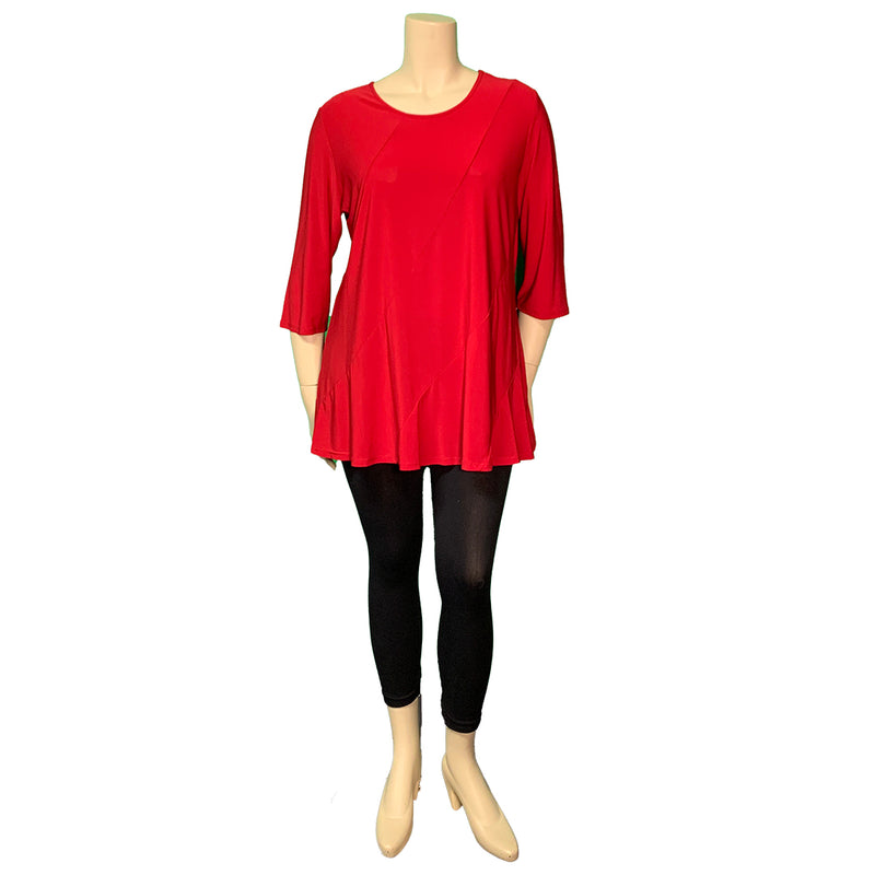 Red tunic top