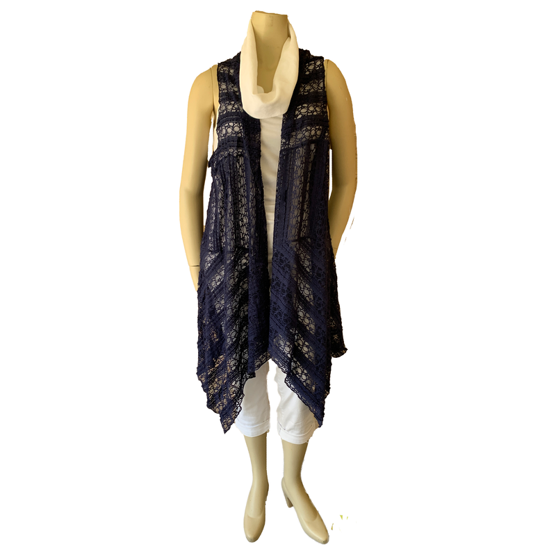 Lacy Duster - Navy or White