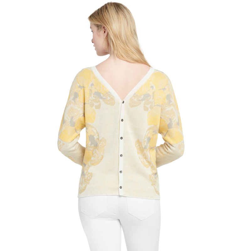Lemons Reversible Sweater by NIC+ZOE