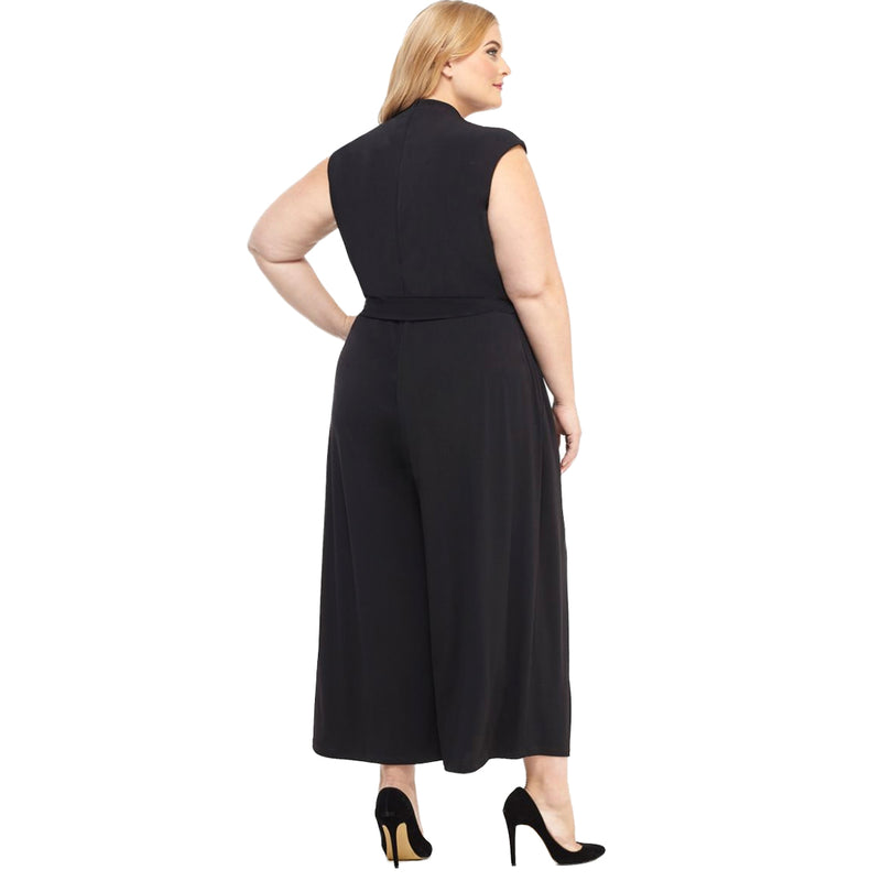 Black plus size designer jumpsuit