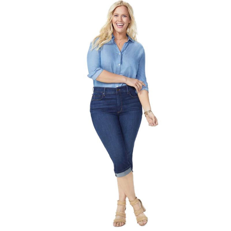 NYDJ Marilyn Crop Cuff Capri Plus Size