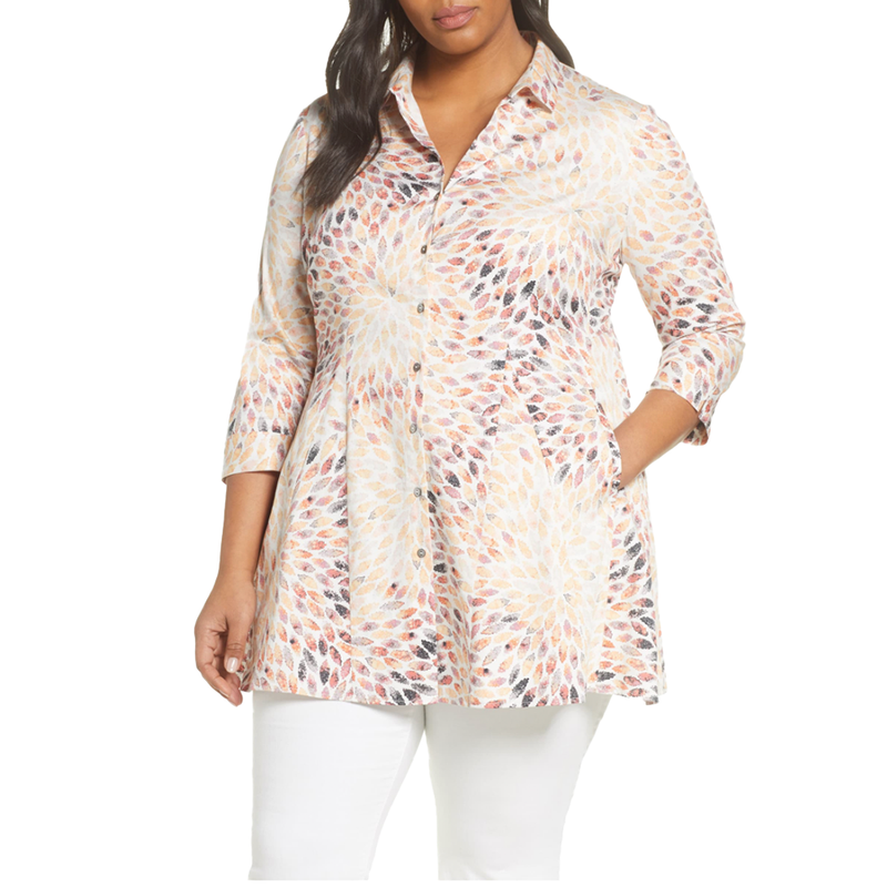 Morning Burst Shirt Jacket by NIC+ZOE in XXL