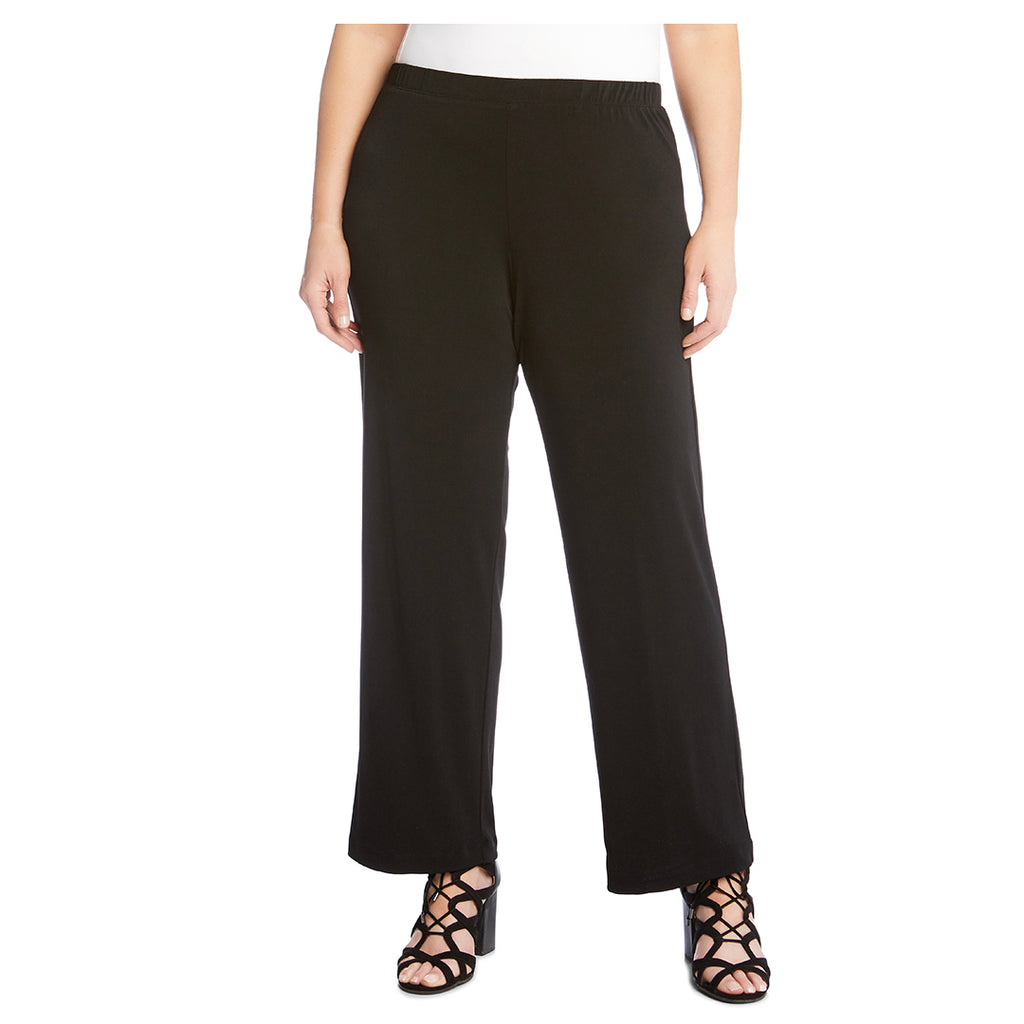 Black plus size pants