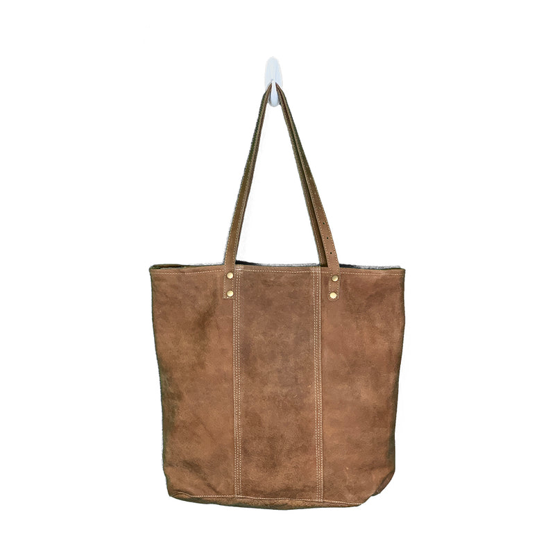 Ranier Ring-and-Key Leather Tote