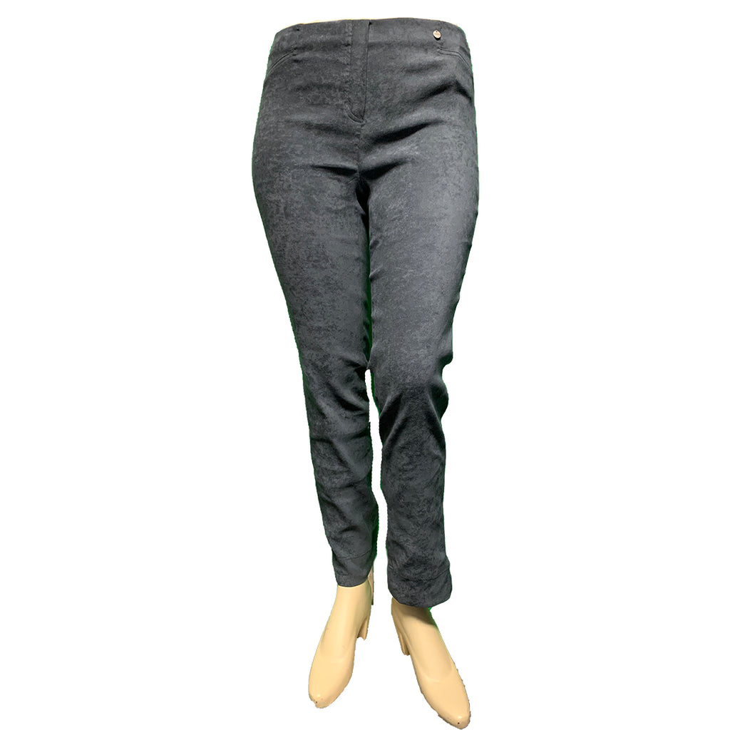 Grey vegan suede plus size pants