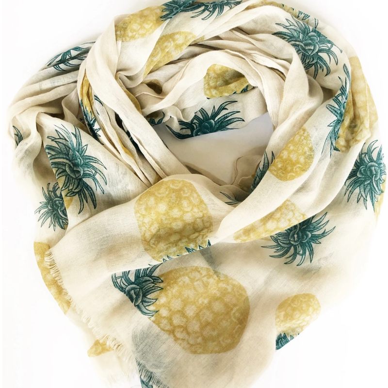 Pineapple Scarf - 100% Cotton