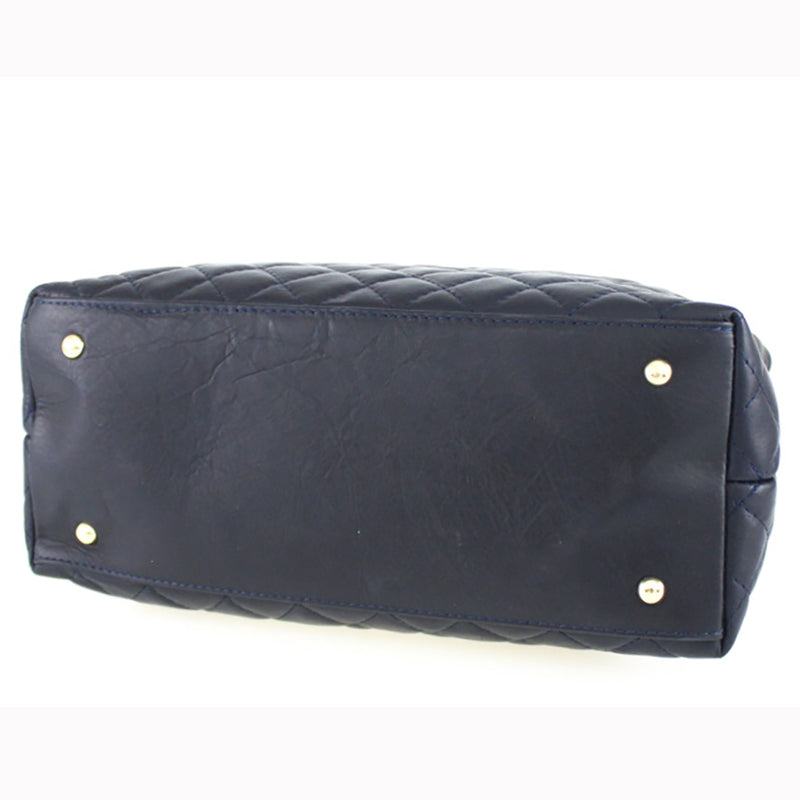Sydney Bag in Navy- Genuine Italian Leather
