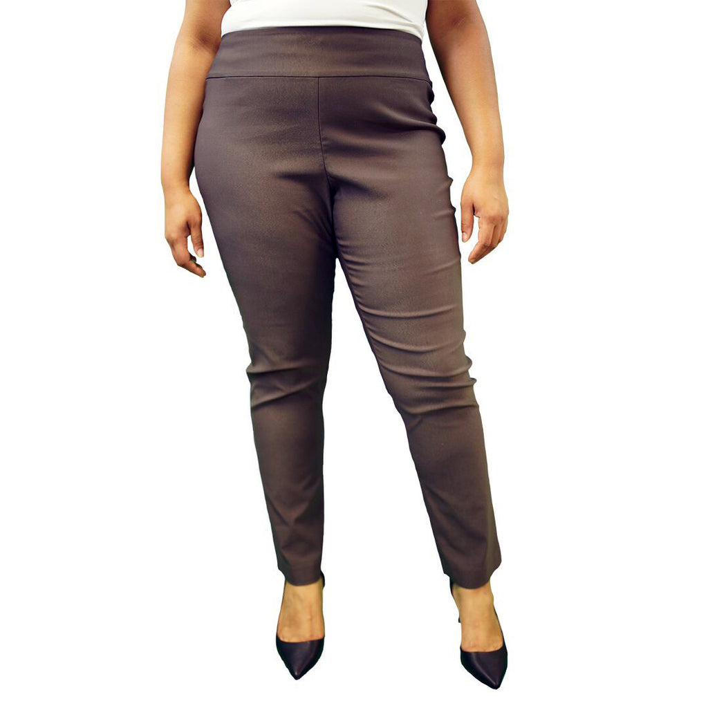 NIC+ZOE Plus Size Brown pants