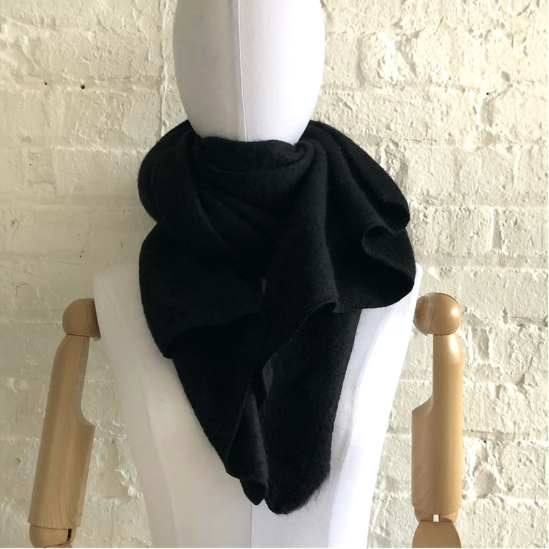 Black Boucle Super Soft Scarf