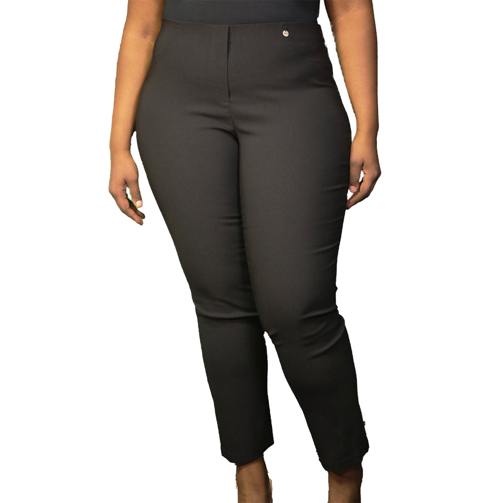 black plus size work pants