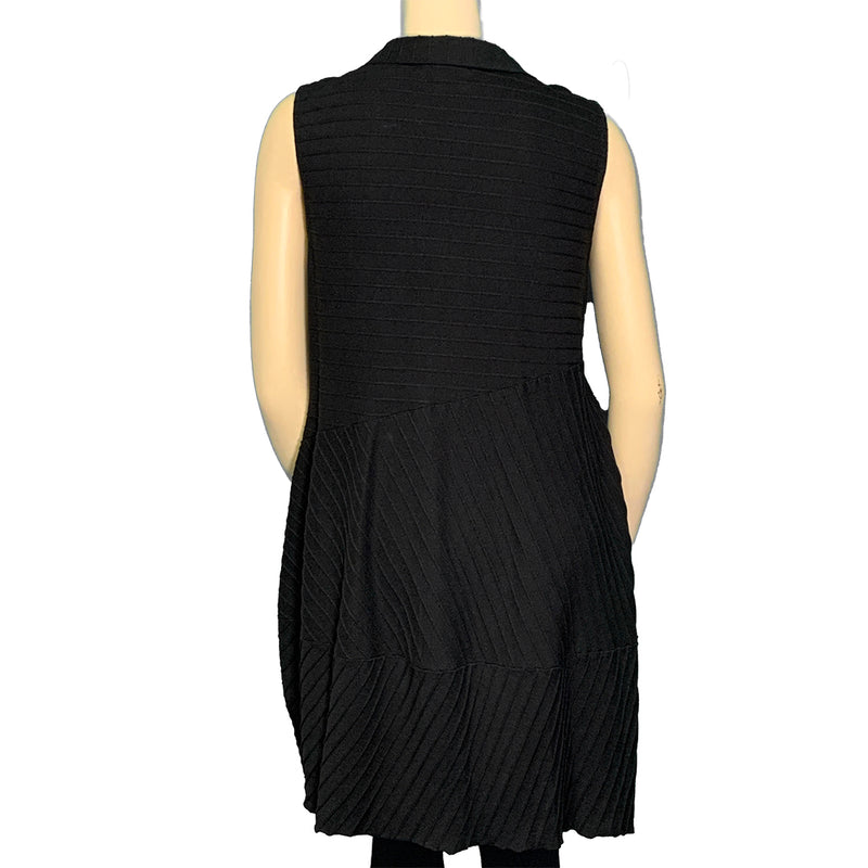 plus size black sleeveless dress