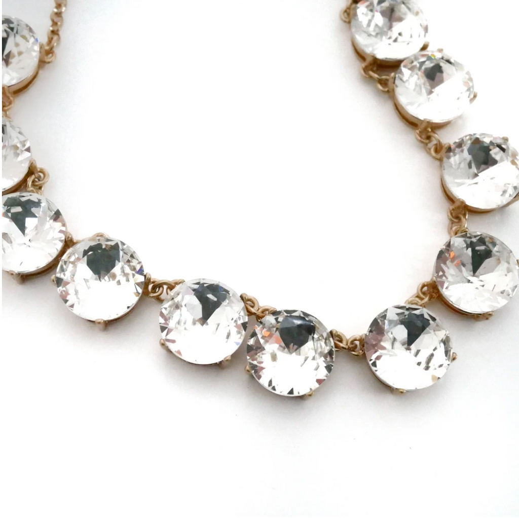 Gold and crystal statement necklace