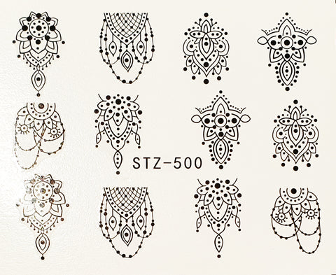 Mehndi Water Decal