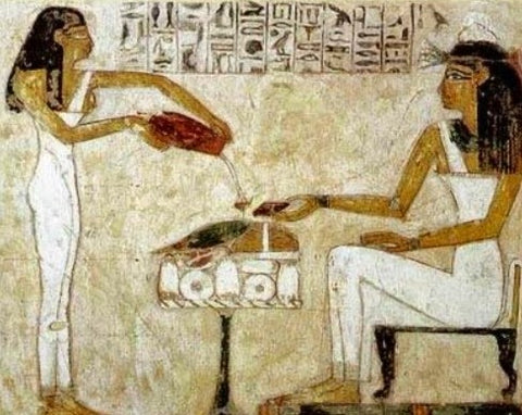 Pharaohs drinking beer