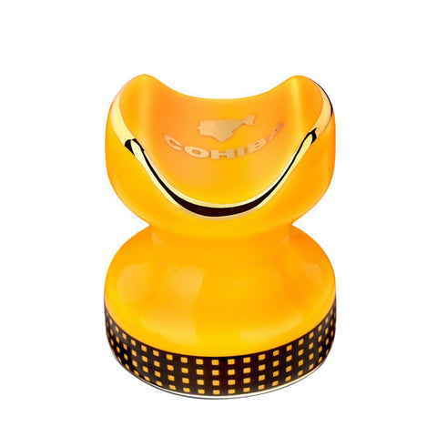 yellow cohiba ashtray in a shape of a rook from chess