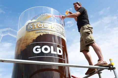 The world's largest glass of beer