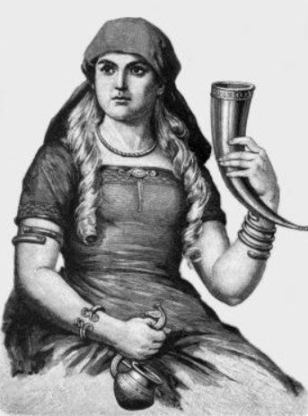 viking women with a glass of beer