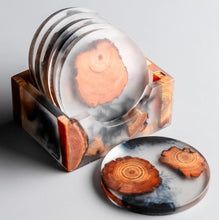 Load image into Gallery viewer, resin coasters on a table 10
